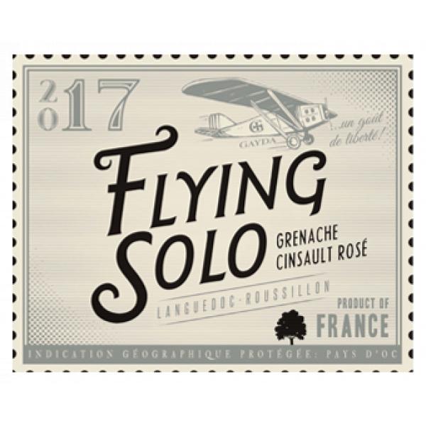 étiquette Flying Solo Rosé