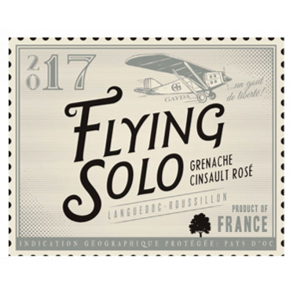 étiquette Flying Solo Rosé